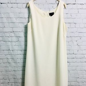 Virgo off white sleeveless dress